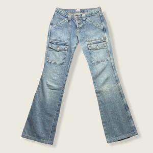 Joie Flared Double Pocket Light Wash Jeans